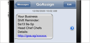 Email or SMS notifications & reminders
